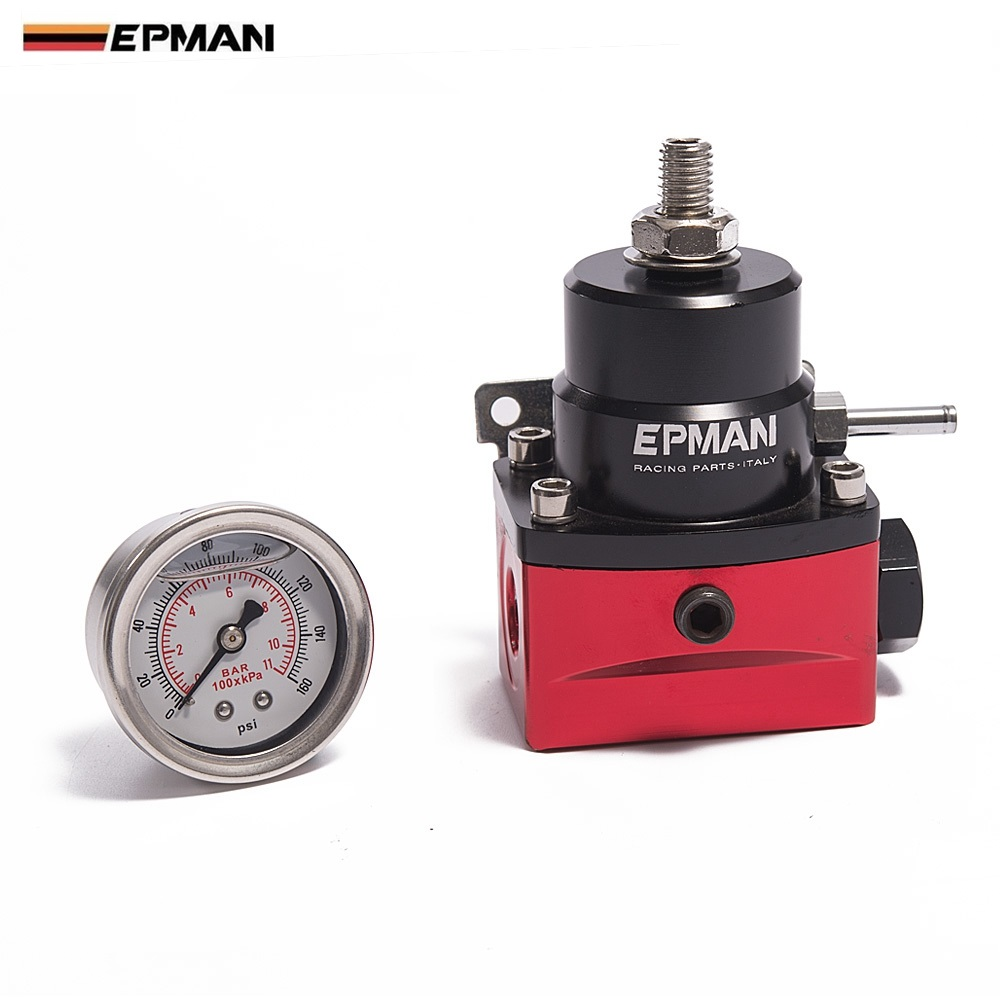 EPMAN-Racing  Car Universal Adjustable Fuel Pressure Regulator (With Gauge /No with ) For BMW E39 5-Series (2000-) EP-7MGT-ZTGA