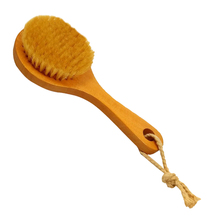 New Long-handled Bristle Detox Wooden Handle Body Massage Brush Skin Brush Relaxation H7JP(China)