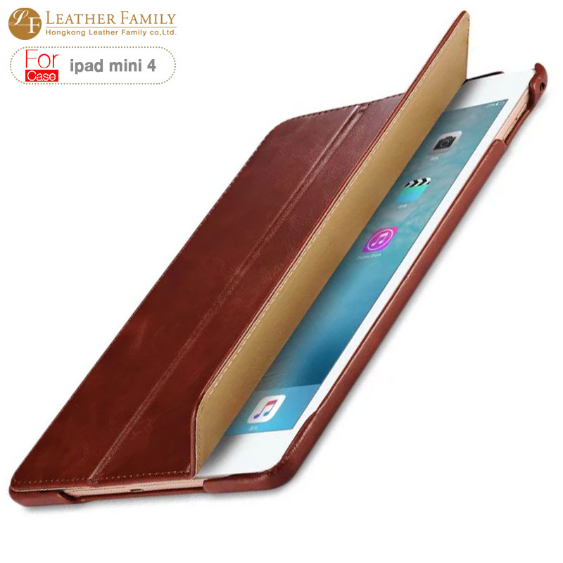 sauceda For ipad mini 4 case original Luxury Vintage Genuine Leather case for ipad mini 4 7.9 inch cover table protective shell<br>