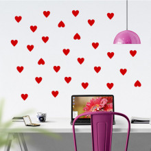 newest DIY black red white Love Heart home decal wall sticker beautiful living room bedroom wall art glass window decor mural