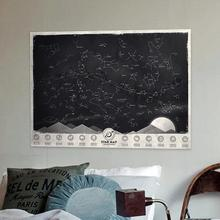 2017 New Design Star Map Glow in Darkness Night Sky Constellations Zodiac Chart Poster Sticker Wholesale