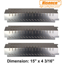 Hisencn 94011 3pcs/pk Gas Grill Stainless Steel Heat Plate Heat Shield Replacement for Centro, Charbroil, Thermos, Lowes Grills