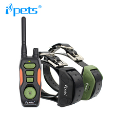 Ipets 618-2 new product for pet training Rechargeble and waterproof training electric shock collar range up 800m for 2 dogs