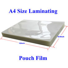 10 Sheets 100mic(4mil) A4 Size PVC Clear Glossy 2Flap Laminating Pouch Film for Hot Laminator