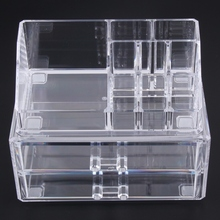 2017 Acrylic Cosmetic Organizer Drawer Makeup Case Storage Insert Holder Box Free shipping PTSP