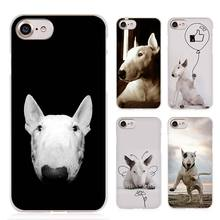 Bull Terrier bullterrier dog Clear Cell Phone Case Cover for Apple iPhone 4 4s 5 5s SE 5c 6 6s 7 Plus