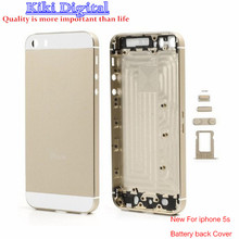 WOJOQ New A+++ For iPhone 5s Full Housing Back Battery Cover Middle Frame Metal Back Housing Replacement part with LOGO