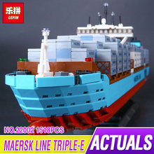 Lepin 22002 1518Pcs Technic Series The Maersk Cargo Container Ship Set Educational Building Blocks Bricks Model Toys Gift 10241(China)