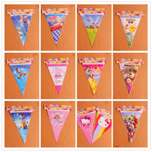 2.5m Dog Pawed Patrolling Party Flag Troll Flag Masha bear Pennats Pink Pig Theme Baby Shower Kid Birthday Party Banner Supplier