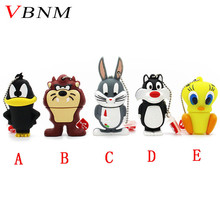 VBNM animal Daffy Duck Bugs Bunny Crow Lion cat pendrive 4GB 8GB 16GB 32GB USB Flash Drive U Disk cartoon Memory Stick Gift(China)