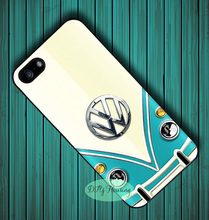 blue volkswagen vw bus case for iphone X 4s 5 5s SE 5c 6 6s 7 8 Plus Samsung s3 s4 s5 mini s6 s7 s8 edge plus Note 3 4 8(China)