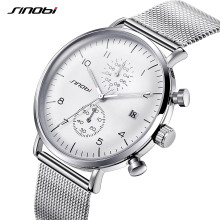 SINOBI New Men Watch Brand Business Watches For Men Ultra Slim Style Wristwatch JAPAN Movement Watch Male Relogio Masculino(China)