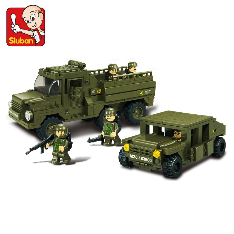 model building kits compatible with lego city army car 721 3D blocks Educational model &amp; building toys hobbies for children<br><br>Aliexpress