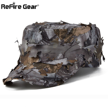 New Tactical Conceal Camouflage Flat Cap Men Jungle Bionic Camo Sniper Baseball Cap Quick Dry Paintball Army Combat Snapback Hat