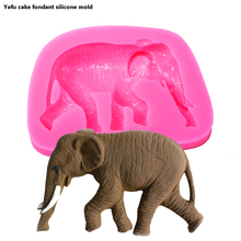 Animal series Elephant cooking tools 3D silicone mold fondant cake decoration molds F0042