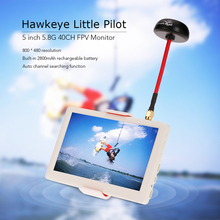 Hawkeye Little Pilot 5inch HDMI HD Monitor w/ built-in 5.8G 40CH Receiver Mushroom Antenna / Battery for FPV Multicopter