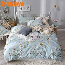 Svetanya 2019 cheap Bedlinen Floral Bedding Set Single Double Full Queen Size (Duver Cover +flat Sheet+Pillowcase)(China)