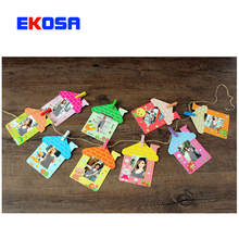 3 Inches Cartoon house Photo frame Wall Creativity Hanged Adorn With Clip Rope For Fujifilm Instax Mini Film 7s 8 90 Camera