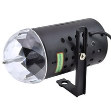 EU/US Plug RGB 3W Crystal Magic Ball Laser Stage Lighting For Party Disco DJ Bar Bulb Lighting Show full color sound-activated