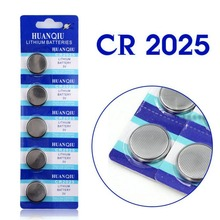 Hot selling 5 Pcs 3V Lithium Coin Cells Button Battery CR2025 BR2025 DL2025 KCR2025 2025 L12 EE6226