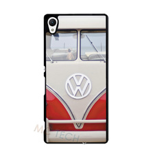 Red VOLKSWAGEN VW Mini Bus Case for iPhone 4 4S 5 5S 5C 6 6S Plus Sony Xperia Z Z1 Z2 Z3 Z4 Z5 Mini C C3 C4 M2 M4 M5 T2 T3 E4