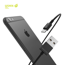 WSKEN 2in1 Micro USB Braided Data Cable For Lightning iPhone Charging Adapter Samsung Xiaomi Huawei Meizu Mobile Phone Cable(Hong Kong)