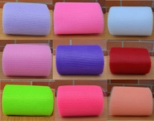 4 Rolls Colorful Hard Tulle Craft Wedding Party Decoration Sheer Gauze Mesh Table Runner Wedding Car Decor 10 colors 13.5cm*25m