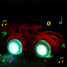 Stunning Universal Turning Racing Kids Car Toys For Boys 3 Years Old Musical And Light Toys Cars Free Play Car Racing Games(China)