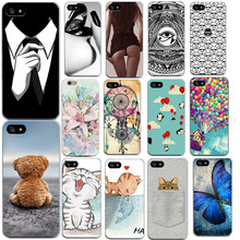 Ultrathin Soft TPU Case for iphone 5 5s SE 6 6s 7 Flowers Balloon Animal pattern Back Cover Phone Case for iphone 7(China)