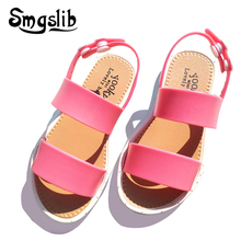 kids shoes mini melissa girls sandalias summer jelly shoes for toddlers Baby Boys Girls Sandals Soft Comfort Beach Sandals(China)