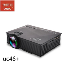 Original Hot selling UNIC UC46+ WIFI Portable LED LCD Video Home Cinema Projector PC VGA/USB/HDMI Wireless Mini Pocket Projector