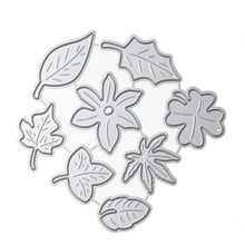 Metal Paper Card Cutter Leaf Combination DIY Decorative Embossing Cutting Dies for Scrapbooking Photo Album Decoration