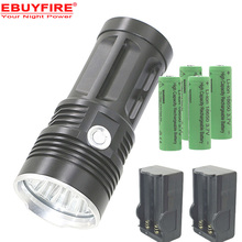 LED Flashlight Sky KING XM-L T6 18650 Torch 10T6 Lamp 3-Mode Led LightS With Battery Charger