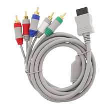Component HD HDTV AV Adapter Cable Audio Video 5 RCA For Nintendo Wii Free Shipping