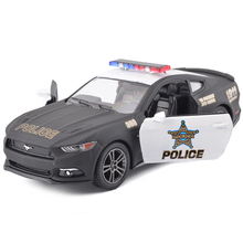 New Hot Sale KiNSMART 1:38 Ford 2006 Mustang GT Police Alloy Diecast Model Car Vehicle Toy Collection Gift For Boy Children Toys(China)