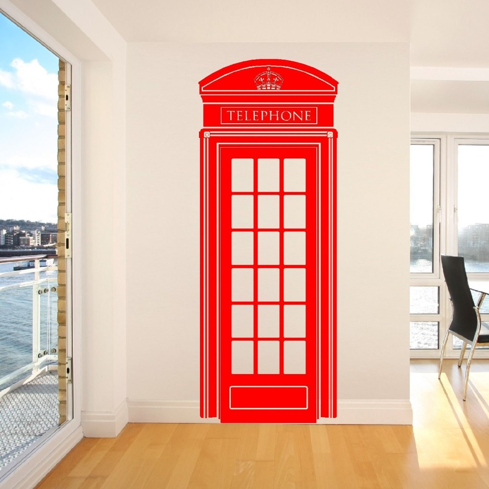 Compare prices on wall sticker lifesize online shoppingbuy low c185 lifesize telephone box phone box uklondon telephone box wall sticker retro uk phone decal mural amipublicfo Images