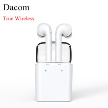 Original Dacom TWS True wireless Bluetooth earphone for iPhone 7 7 plus Earbuds Headset Double mini Twins Earphones For Android(China)