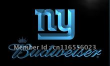 LD281- NY New York Giants Budweiser LED Neon Light Sign home decor shop crafts(China)