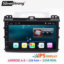 Free Shipping Android 6.0 Full touch Car Multimedia For TOYOTA Land Cruiser Prado 120 2GB RAM 32GB ROM IPS LCD PANEL