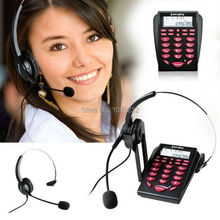 NEW Call Center Noise Cancellation Monaural Headset Telephone Backlight Dial Key Pad with PC Recording function,RJ9 Plug headset
