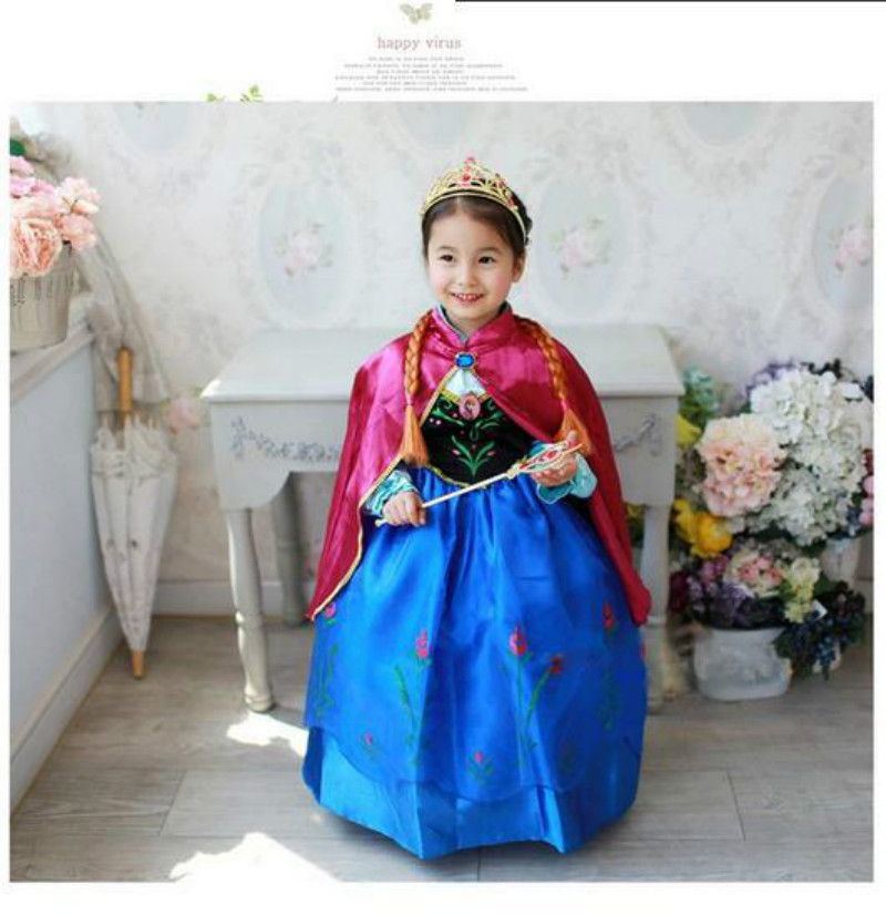 AngelBaby Girls Dress Costumes Kids Cosplay Party Blue Brand Dress Princess Cos Queen Dresses Set Fantasia Infants Children 03<br><br>Aliexpress