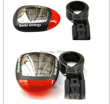 High Quality Solar Power Bicycle led cycling Bike Rear Tail Safety LED Light solarstorm red lantern to bike(China)