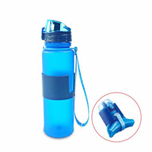 Comfortable life 1pc 650ml Collapsible Water Bottle - Leak Proof Twist Cap - BPA-free silicone wholesale A325