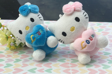 Kawaii 2Colors - NEW Hello Kitty Stuffed Plush Toy , Gift keychain plush pendant TOY doll ; Wedding Bouquet gift TOY DOLL