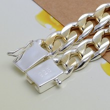 10MM 8inchs 2 styles Free shipping 2017 Fashion 925 stamped silver plated Male models bracelet for mens cool Bracelets Bracciali