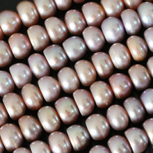 Natural charms purple freshwater pearl abacus loose beads 9-10mm charms for women high grade jewelry making 15inch B1382
