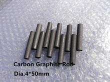 Buy Lubricate Graphite rod dia.4*50mm dry lubricant inlaid bearing,slider /FREE SHIPPING 10pcs