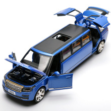 22Cm Long Extended Vehicles Luxury Alloy Car / 6 Open Model Die Cast Toys Car No box packing With Light and Music(China)
