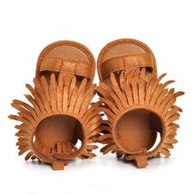 Tassel Sandals Baby Boys Girls Child Breathable Sneakers Baby Infant Casual Shoes 2colors(China)