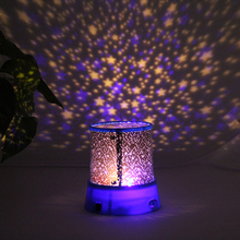 Novelty Night Light Projector Lamp Rotary Flashing LED Starry Star Moon Sky Star Projector Kids Children Gift Send in Random